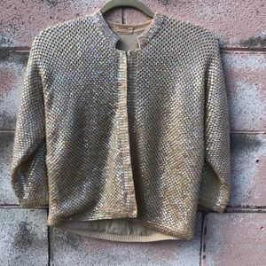 Vintage Cream Sweater with sequins